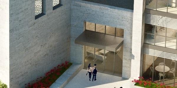 Eingangshalle - Die Eingangshalle bietet Platz für Ausstellungen, Empfänge und Vorträge.